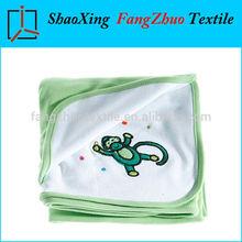 Luxurious baby blanket double side design , swaddle blanket