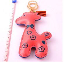 2014 hot sale velvet tassel leather charm key chain promotion gift