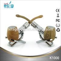 Retro design greatest hit ecig collection K1000 wood ecig kit multiple style