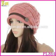 Korean Fashion Womens Warm Winter Crocheted Knit Braided Beanie Ski Hat Skull Cap