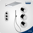 Wall mounted thermostatic shower faucet and rainfall set