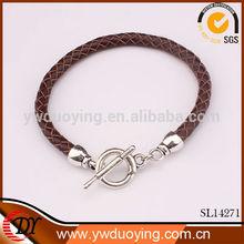 Fashion jewelry thong braided thin 2014 Leather Bracelet wristband Jewelry