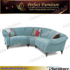 Modern fabric corner sofa set designs with ottoman for living room furniture