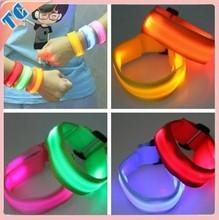 2015 Hot Sale custom slap wristband, glow in dark slap bracelet