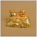 Cor de ouro chinês sorte buda, mini estátua de buda, laughing buddha estátua do jardim