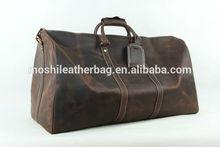 Extra Large Men Genuine Leather Travel Bag