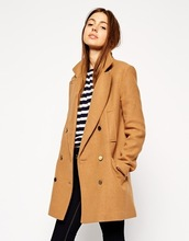HSC8014 Back Vent Double Breasted Pea Coat