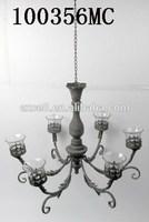French decorative metal hanging candelabra