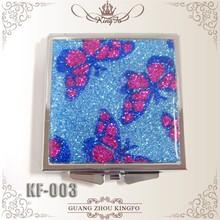 Gorgeous lady mini gold powder souvenir purse makeup mirror