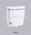 3-6 litre. de toilette en plastique bouton poussoir murales toilettes à double chasse d'eau avec réservoir