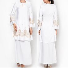 islamic-clothing-wholesale ladies fashion latest design white baju kebaya
