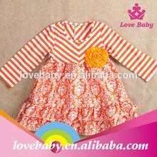 Polka stripe baby fashion boutique dress guangzhou kids clothes LBE4091905