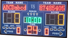 High quality digital LED basketball scoreboard