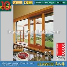 European Design Aluminium Wood Cladding Glass Sliding Window Aluminium window
