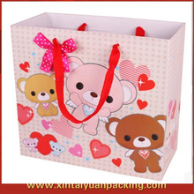 2013 new red lovely kids decorate gift paper bag, paper love match bag,love pink tote bag for valentine day