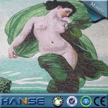 foshan competitive price glass mosaic wall art murals