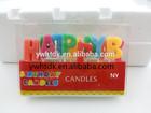 English Alphabet Happy Birthday Candle