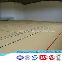 Plastic pvc sports flooring for basketball