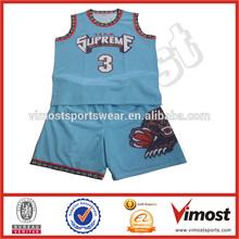 Sublimado Custom uniforme de baloncesto conjunto