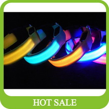 Eye catching led pet collar with 2 sides lighting