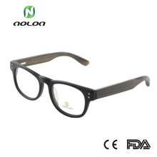 legno e bambù occhiali montature per occhiali di plastica nera