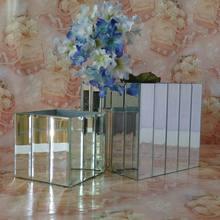 regalo de temporada derecho tamaño de espejo de plata de los paneles de las paredes 4 utensilio del hogar