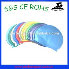 High quality silicone swim cap with different colour,silicone swim cap