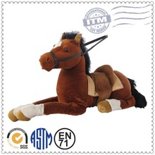Wholesale plush and stuffed toys kid riding horse toy