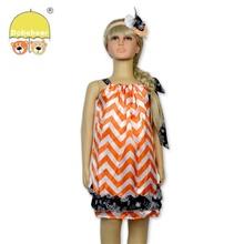 2014 High Quality New Design orange holloween cotton pillowcase dress