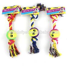 pet tug rope chew tennis ball dog puppy toy pet tough