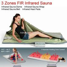 3Zones Far infrared thermal sauna blanket Heat Fitness Healthy beauty machine
