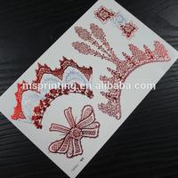 metallic temporary tattoo ink colors