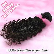 Brazilian deep curl virgin hair, can be ironed, be bleached human hair weave