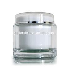 White acrylic plastic packing jar cosmetic