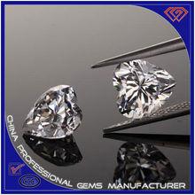 White Heart Shape Synthetic Gems