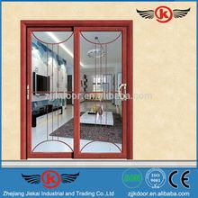 JK-AW9167 China aluminum alloy balcony double sliding screen doors design