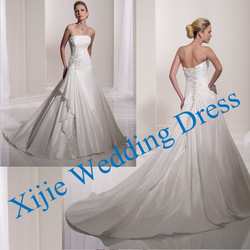 Custom Design Strapless Fashion Wedding Dress 2015 New Arrival --- Ali-0063