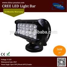 "3600 lm 36W 7"" LED Light Bar spot , snowmobile / offroad led light bars"