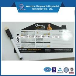 Custom paper calendar fridge magnet,magnetic calendar, refrigerator magnet