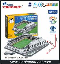 3D jigsaw puzzle stadium manufacturer Estadio Urbano Caldeira Stadium Vila Belmiro Santos FC Brazil