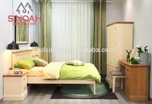 Sólido roble superior con álamo pintado muebles de dormitorio