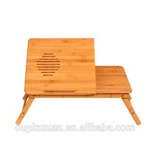 2014 Portable folding bamboo laptop ,notebook table,Factory supplier