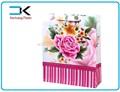 Flor impressão design! Promoção de plástico pp sacola