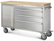 ( HOT ) wood top tool chest/ stainless steel body