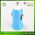 Colorful Bullet Single USB Mini Car Charger For Smart Phone