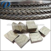 Block Shape Diamond Segment For Stone Cutting Block Quarrying Cutting Brazing On Big Steel Blank Saw Blade