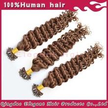 Charming blond Hair Extension U Tip Wavy Hair Extension