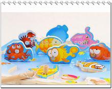 2015 customized popular kids toys magnetic fishing game