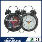 twin bell cartoon quartz kid clock picture