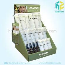 Skin whitening cream cardboard tray pop display